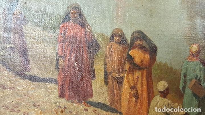 Arte: PAISAJE ORIENTALISTA. EGIPTO. ÓLEO SOBRE LIENZO. VOITLER BILLNEY. SIGLO XIX. - Foto 9 - 87237096