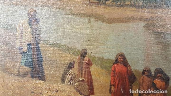 Arte: PAISAJE ORIENTALISTA. EGIPTO. ÓLEO SOBRE LIENZO. VOITLER BILLNEY. SIGLO XIX. - Foto 10 - 87237096