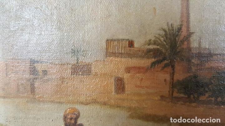 Arte: PAISAJE ORIENTALISTA. EGIPTO. ÓLEO SOBRE LIENZO. VOITLER BILLNEY. SIGLO XIX. - Foto 11 - 87237096