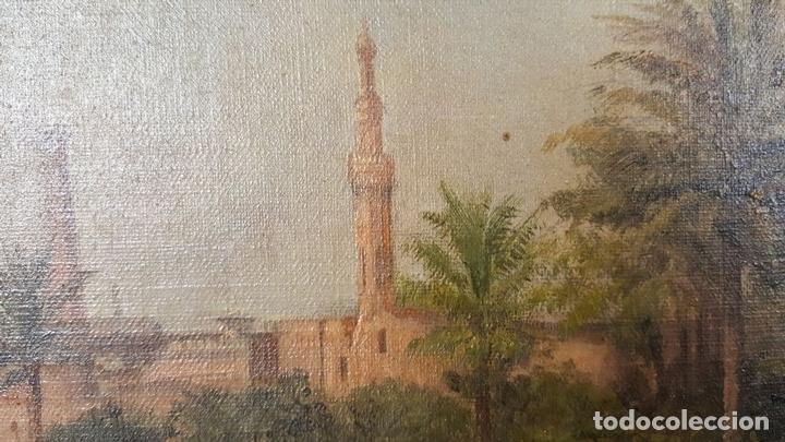 Arte: PAISAJE ORIENTALISTA. EGIPTO. ÓLEO SOBRE LIENZO. VOITLER BILLNEY. SIGLO XIX. - Foto 13 - 87237096