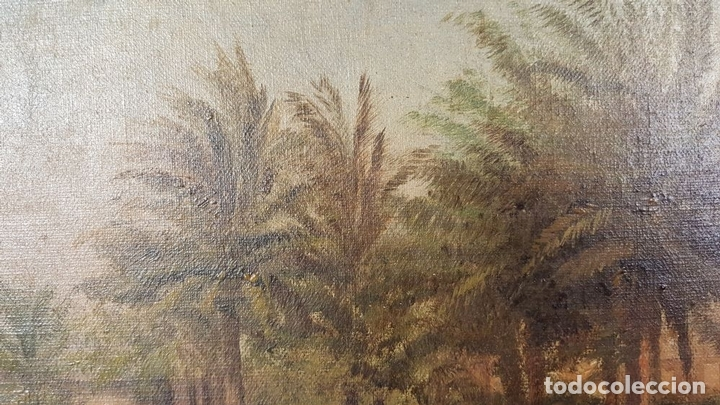 Arte: PAISAJE ORIENTALISTA. EGIPTO. ÓLEO SOBRE LIENZO. VOITLER BILLNEY. SIGLO XIX. - Foto 15 - 87237096