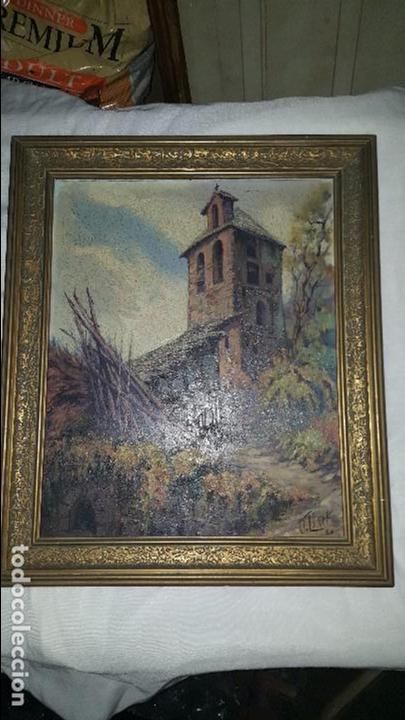 CASA RURAL - FIRMADO POR J. LLORT- 1960 (Arte - Pintura Directa del Autor)