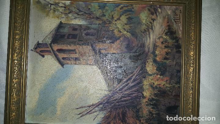 Arte: CASA RURAL - FIRMADO POR J. LLORT- 1960 - Foto 4 - 87366232