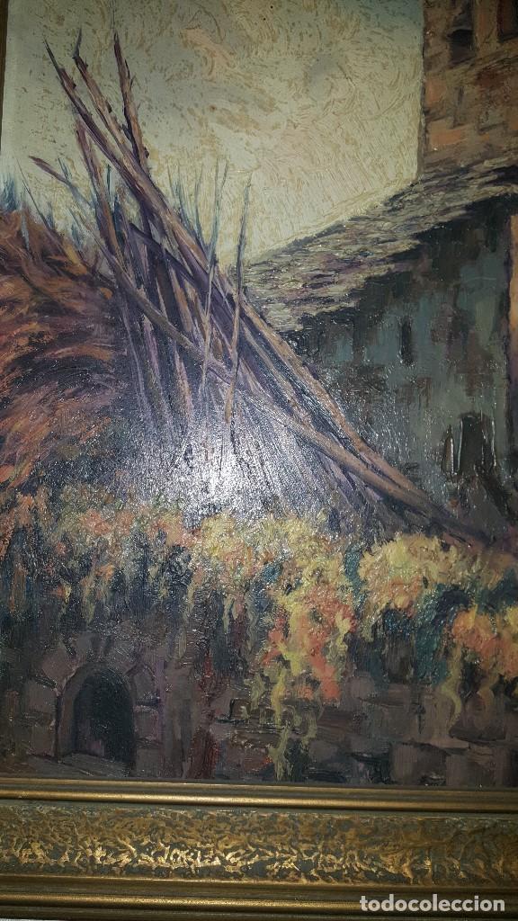 Arte: CASA RURAL - FIRMADO POR J. LLORT- 1960 - Foto 5 - 87366232