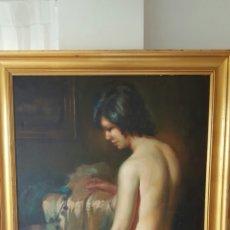 Arte: PINTURA ORIGINAL DESNUDO POR EL PINTOR MIGUEL SOLER MADRID OLEO EN TELA. Lote 87413239
