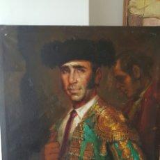 Arte: PINTURA ORIGINAL OLEO DE TORERO SAN ISIDRO MADRID OLEO POR MIGUEL SOLER. Lote 87414934