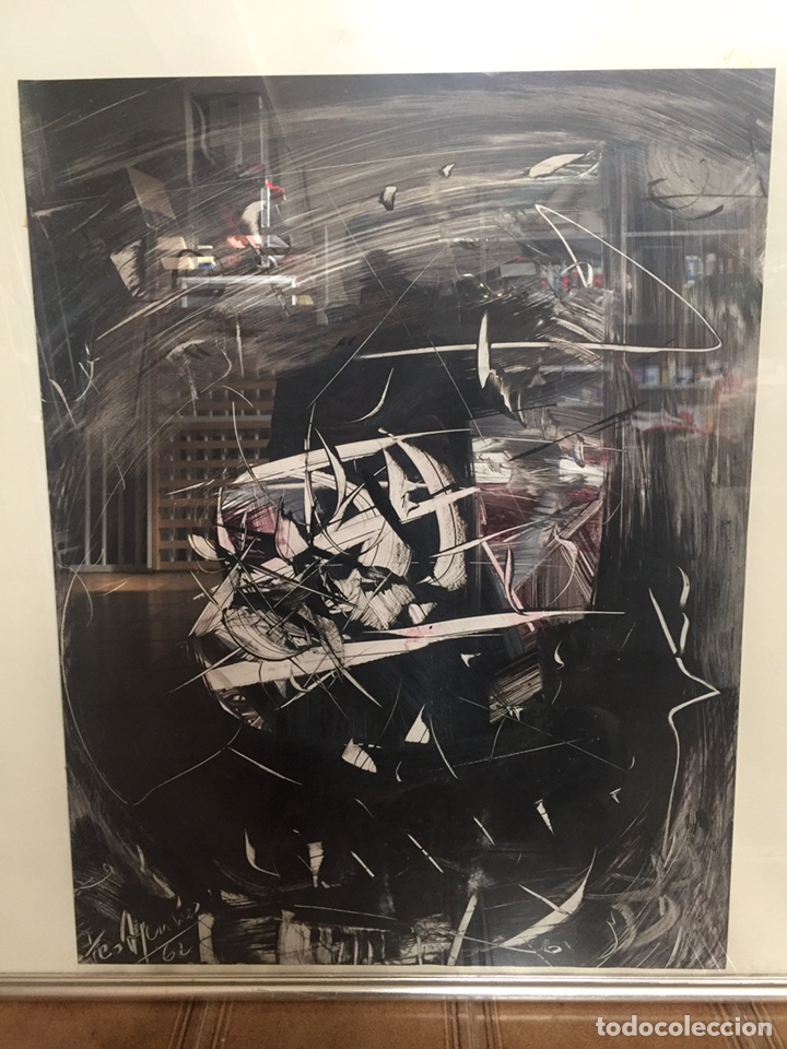 TEO ASENSIO PINTOR ( 1935 ) TÉCNICA MIXTA SOBRE PAPEL (Arte - Pintura - Pintura al Óleo Contemporánea )