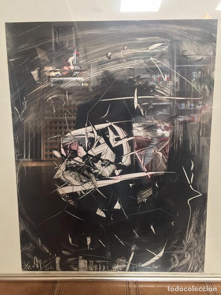 Arte: TEO ASENSIO pintor ( 1935 ) técnica mixta sobre papel - Foto 2 - 87491135