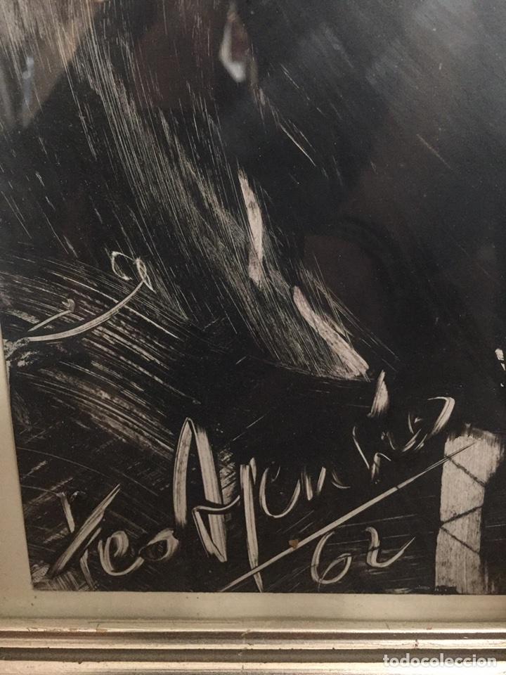 Arte: TEO ASENSIO pintor ( 1935 ) técnica mixta sobre papel - Foto 3 - 87491135