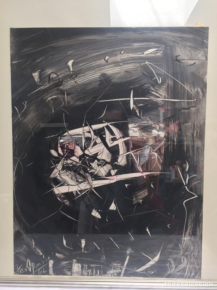 Arte: TEO ASENSIO pintor ( 1935 ) técnica mixta sobre papel - Foto 10 - 87491135