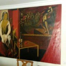 Arte: ENORME CUADRO DE OLEO SOBRE LIENZO CON FIRMA DEL PINTOR,231 CM X 156CM.. Lote 87561544