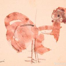 Arte: JUAN GENOVÉS. (VALENCIA, 1930).FELICITACIÓN NAVIDEÑA.OLEO/CARTULINA. 22 DICIEMBRE 1959. 16 X 13 CM.. Lote 87591184