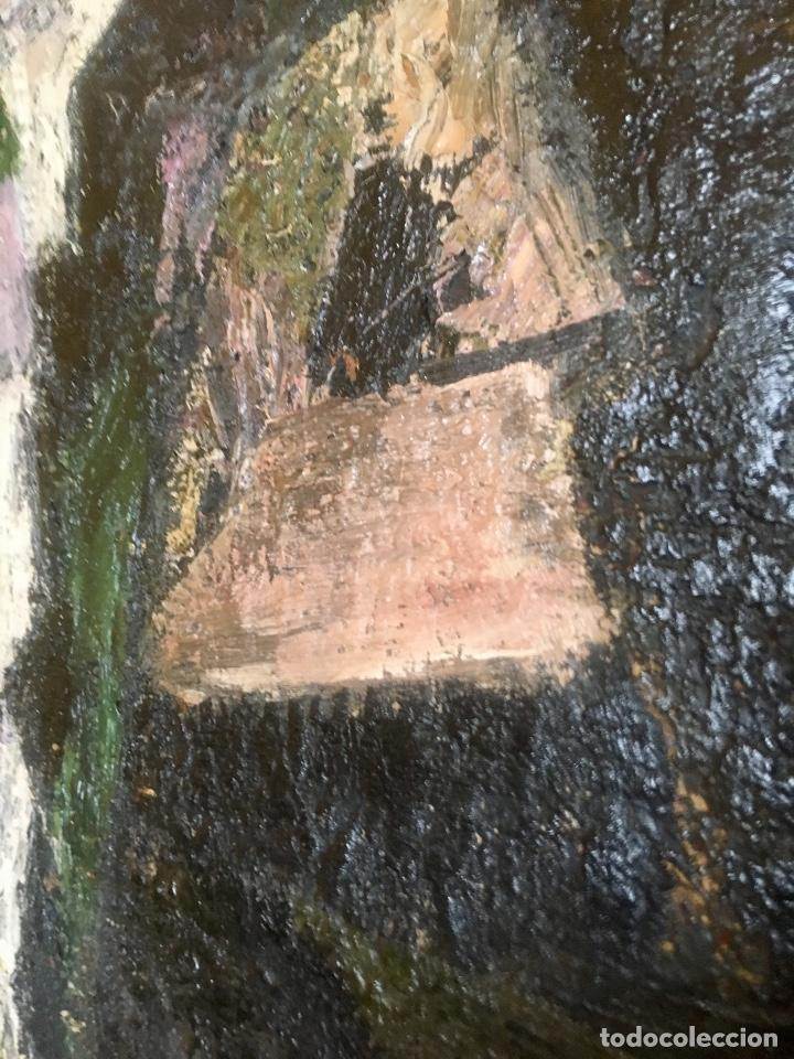 Arte: Cuadro oleo pierrot arlequin niña cansada sol de andres escuela gutierrez navas 135x85 c - Foto 5 - 87591816