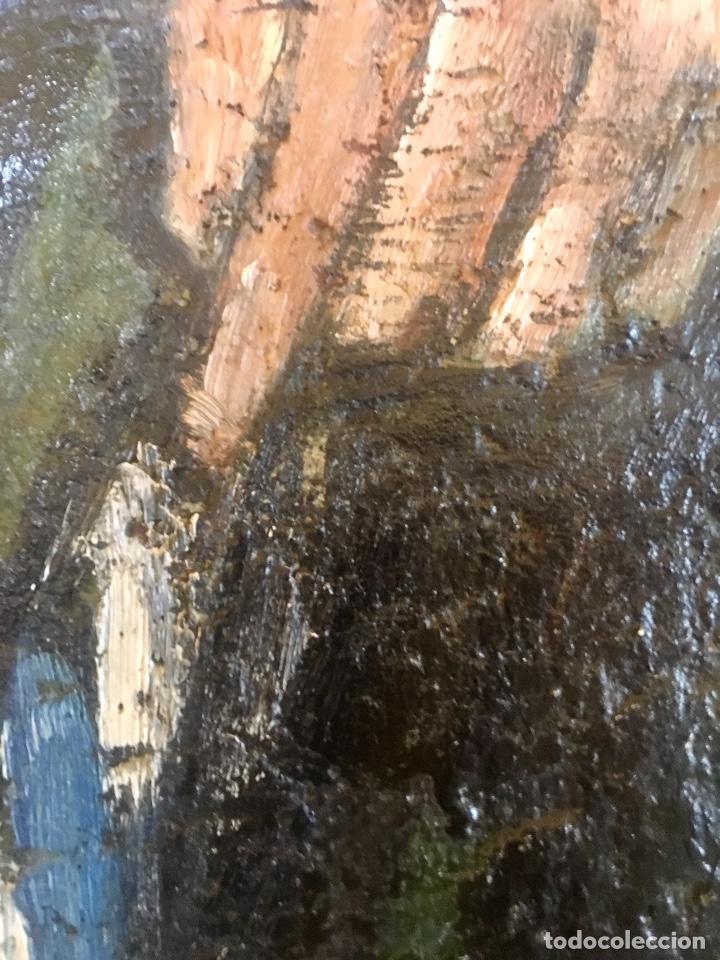 Arte: Cuadro oleo pierrot arlequin niña cansada sol de andres escuela gutierrez navas 135x85 c - Foto 6 - 87591816