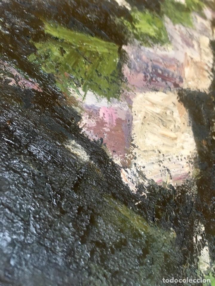 Arte: Cuadro oleo pierrot arlequin niña cansada sol de andres escuela gutierrez navas 135x85 c - Foto 7 - 87591816