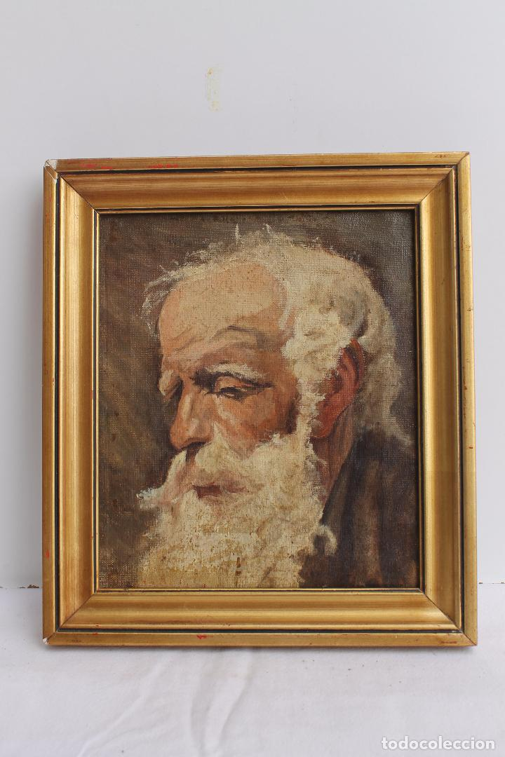 OLEO SOBRE LIENZO RETRATO ESCUELA VALENCIANA XIX (Arte - Pintura - Pintura al Óleo Moderna siglo XIX)