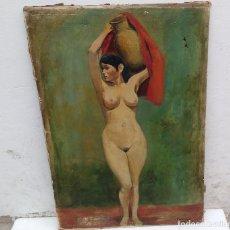 Arte: ANTIGUO Y ORIGINAL OLEO DE DESNUDO FIRMA RIVERA. Lote 87691176