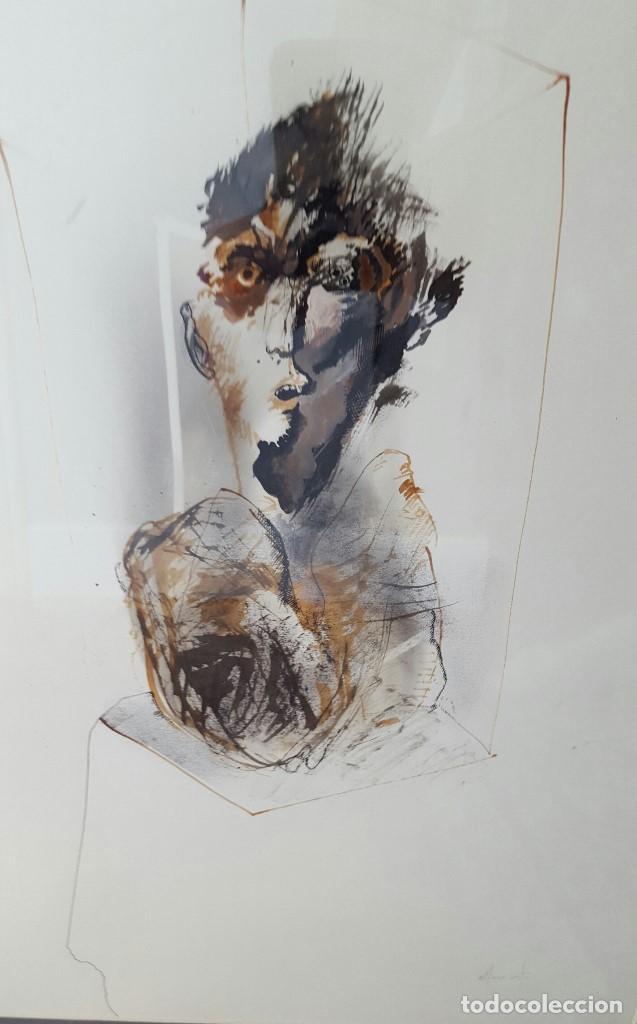 ALFONSO COSTA (NOIA, A CORUÑA 1943) - PINTOR GALLEGO - TECNICA MIXTA - ENMARCADO (Arte - Pintura - Pintura al Óleo Contemporánea )