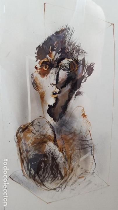 Arte: Alfonso Costa (Noia, A coruña 1943) - Pintor Gallego - Tecnica Mixta - Enmarcado - Foto 4 - 87780332
