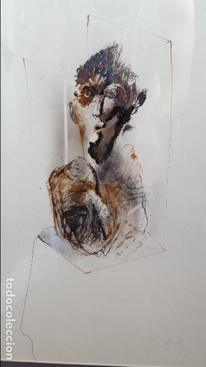 Arte: Alfonso Costa (Noia, A coruña 1943) - Pintor Gallego - Tecnica Mixta - Enmarcado - Foto 5 - 87780332