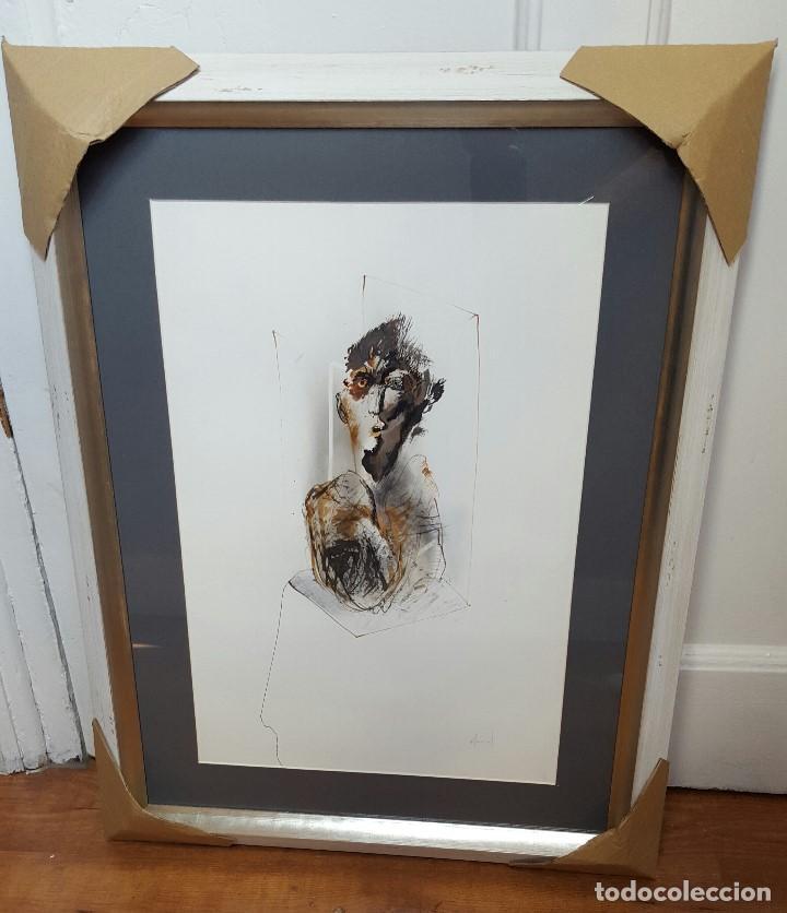Arte: Alfonso Costa (Noia, A coruña 1943) - Pintor Gallego - Tecnica Mixta - Enmarcado - Foto 6 - 87780332