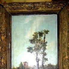 Arte: ANTIGUO OLEO/TABLA SIGLO XIX. PAISAJE RURAL. FIRMADO MORENO EN 1896. Lote 88110048