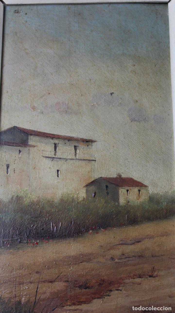 Arte: C-618. OLEO SOBRE TABLA. PAISAJE. FIRMADO MONFORT. S.XX. - Foto 2 - 88137300