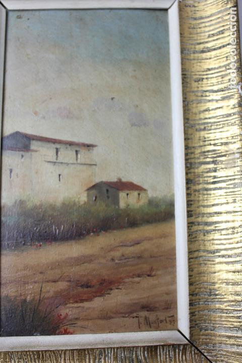 Arte: C-618. OLEO SOBRE TABLA. PAISAJE. FIRMADO MONFORT. S.XX. - Foto 4 - 88137300