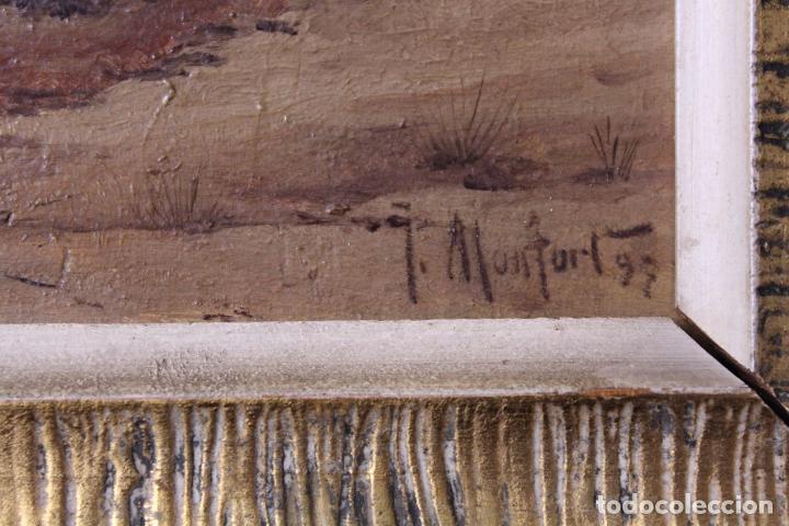 Arte: C-618. OLEO SOBRE TABLA. PAISAJE. FIRMADO MONFORT. S.XX. - Foto 5 - 88137300