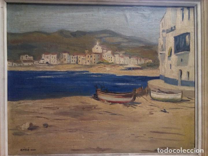 CADAQUÉS ( GIRONA) FIRMADO , AMIGO. (Arte - Pintura - Pintura al Óleo Contemporánea )