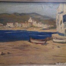 Arte: CADAQUÉS ( GIRONA) FIRMADO , AMIGO.. Lote 88139684