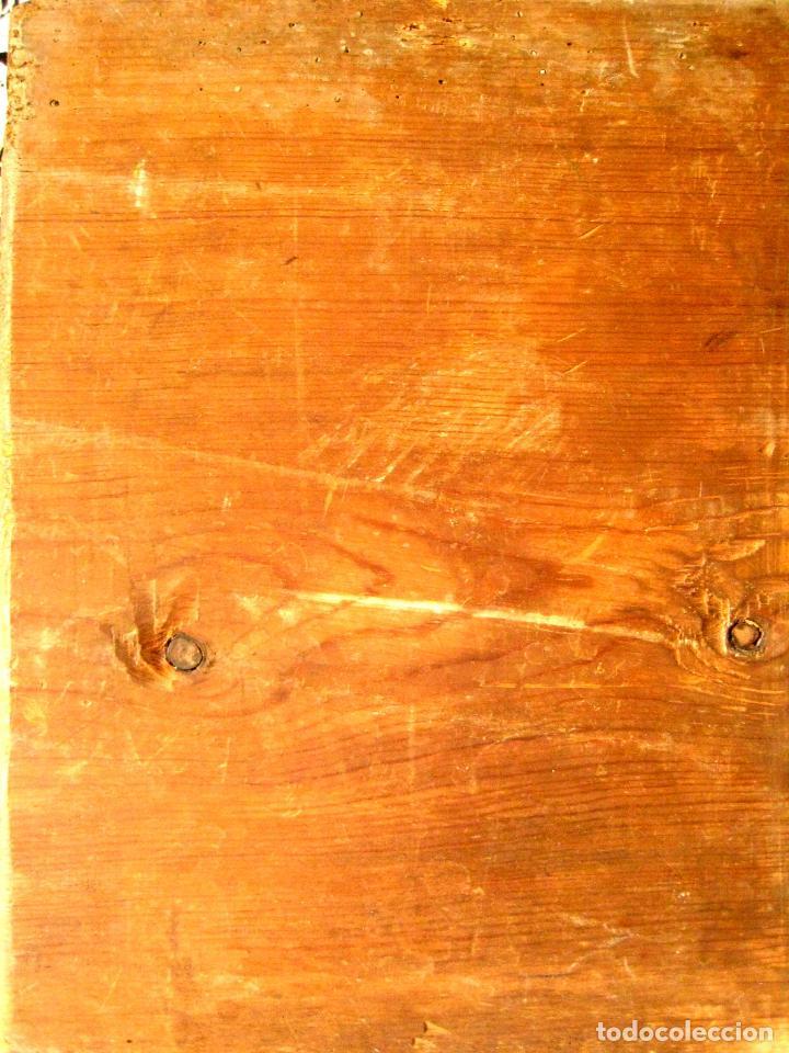 Arte: DESPUÉS DE RAFAEL DE SANZIO. PLATÓN Y ARISTÓTELES. OLEO/TABLA POSIBLEMENTE DEL SIGLO XVIII. - Foto 5 - 88155168