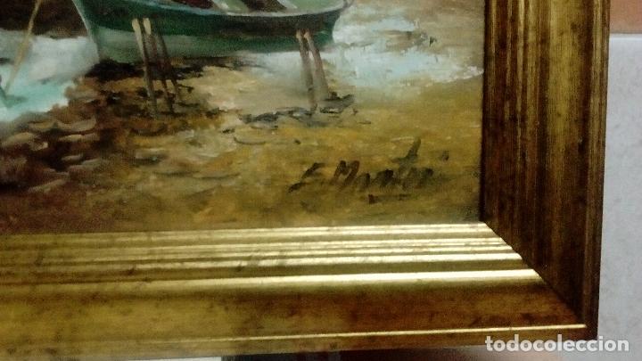 Arte: SUPERLOTE DE 6 ÓLEOS SOBRE TABLA. ENRIQUE MONTES. OFERTTOOÓNNN. - Foto 20 - 98173679