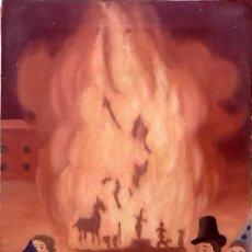 Arte: OLEO SOBRE TELA. HOGUERA FALLA CAMPOAMOR. VALENCIA.RAFAEL CONESA 1979.. ENVIO INCLUIDO EN EL PRECIO.. Lote 88355884