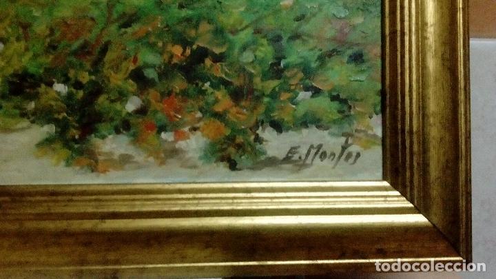 Arte: SUPERLOTE DE 6 ÓLEOS SOBRE TABLA. ENRIQUE MONTES. OFERTTOOÓNNN. - Foto 24 - 98173679