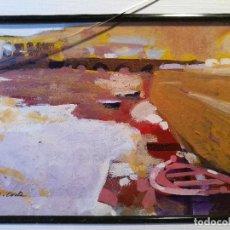 Arte: ALEJANDRO COSTA BEIRO --A CORUÑA---- TÉCNICA MIXTA -MEDIDA OBRA 12 X 17 CM . Lote 88509416