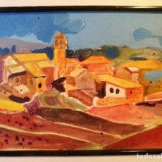 Arte: ALEJANDRO COSTA BEIRO --A CORUÑA---- TÉCNICA MIXTA -MEDIDA OBRA 12 X 17 CM. Lote 88509784