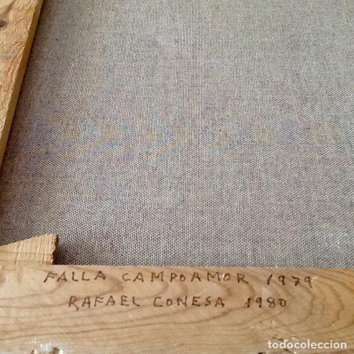 Arte: OLEO SOBRE TELA. HOGUERA FALLA CAMPOAMOR. VALENCIA.RAFAEL CONESA 1979.. ENVIO INCLUIDO EN EL PRECIO. - Foto 7 - 88355884