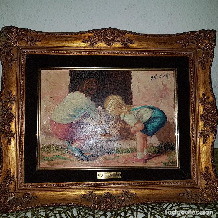 Pintura al oleo los pollitos del pintor valenc comprar - Pintor valenciano ...