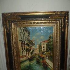 Arte: CANAL DE VENECIA OLEO SOBRE LIENZO PEGADO A TABLA. Lote 88788928