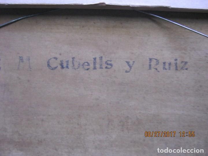 Arte: BARCAS Y PESCADOR - Enrique Martínez Cubells y Ruiz -Óleo sobre tela - Foto 5 - 88844352