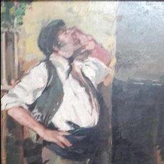 Arte: CUADRO OLEO SOBRE TABLA FIRMADO VIRGILIO GALAN (MALAGA 1931/2001) EL CENACHERO. Lote 89210848