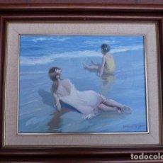 Arte: ÓLEO SOBRE TELA.DOMENECH.BIEN ENMARCADO.DOMINIO DE LA LUZ. ESCUELA VALENCIANA. Lote 89219924