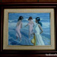 Arte: ÓLEO SOBRE TELA.DOMENECH.BIEN ENMARCADO.BUEN DOMINIO DE LA LUZ.ESCUELA VALENCIANA. Lote 89220044