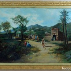 Arte: ESCENA COSTUMBRISTA ORIENTALISTA ÓLEO SOBRE LIENZO SIGLO XIX. Lote 89264248