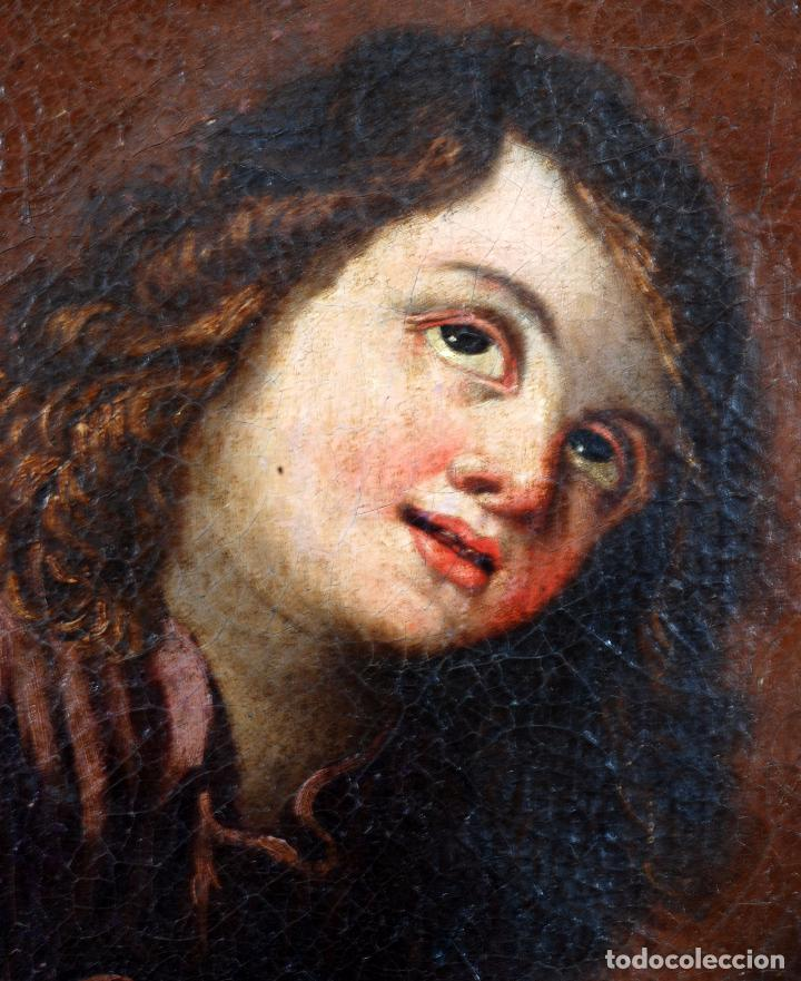 Arte: Niño de la espina óleo sobre lienzo escuela andaluza siglo XVII - Foto 4 - 89271488