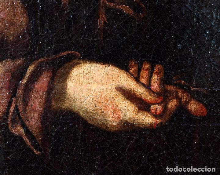 Arte: Niño de la espina óleo sobre lienzo escuela andaluza siglo XVII - Foto 6 - 89271488