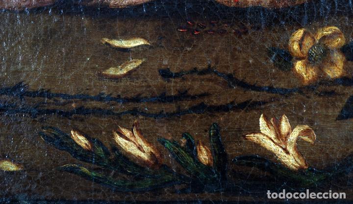 Arte: Niño de la espina óleo sobre lienzo escuela andaluza siglo XVII - Foto 8 - 89271488