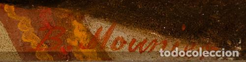 "Arte: Escuela francesa del siglo XIX ""Danza en el harén"" Óleo sobre tabla. Firmada - B. Mounier - Foto 5 - 89304580"