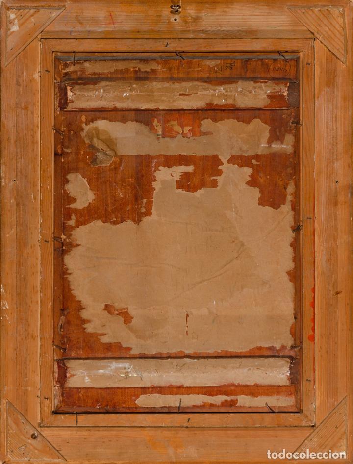 "Arte: Escuela francesa del siglo XIX ""Danza en el harén"" Óleo sobre tabla. Firmada - B. Mounier - Foto 6 - 89304580"